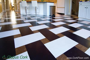 Stylish Cork Flooring. 100% Cork oak wood tiles for floors, walls or ceiling.